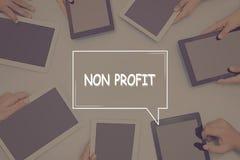 NON concetto di affari di CONCETTO di PROFITTO fotografia stock
