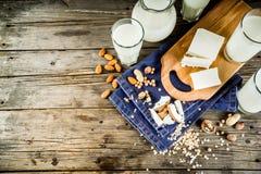 Non-dairy concept van het melkvoedsel stock fotografie