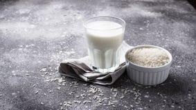 Non-dairy melk van de lactose vrije rijst royalty-vrije stock fotografie