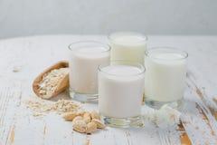 Non-dairy melkalternatieven royalty-vrije stock afbeeldingen