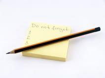 Non dimentichi! Fotografia Stock