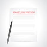 Non disclosure agreement docs. Non disclosure agreement documents. illustration design over white Stock Image