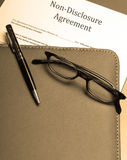 Non-disclosure agreement. An official non-disclosure agreement Royalty Free Stock Images