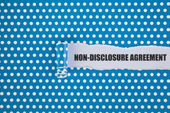 Non disclosure agreement royalty free stock photos