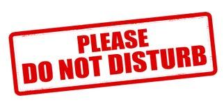 Non disturbi Fotografie Stock Libere da Diritti