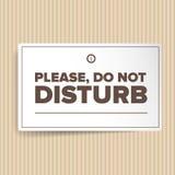 Non disturbi Fotografia Stock