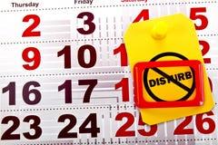 Non disturbi al fine settimana 2 Fotografie Stock Libere da Diritti