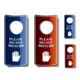 Non disturbi i ganci di porta Fotografia Stock Libera da Diritti