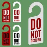 Non disturbi il segno Fotografia Stock Libera da Diritti
