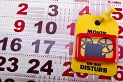 Non disturbi quando il film funziona Fotografia Stock