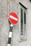 Non entri nel segnale stradale Fotografie Stock Libere da Diritti