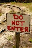NON ENTRI nel segno Fotografia Stock Libera da Diritti
