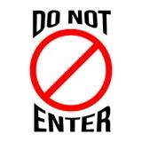NON ENTRI nel segno Icona di restrizione illustrazione vettoriale