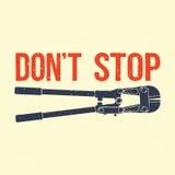 Non fermi l'illustrazione Fotografie Stock