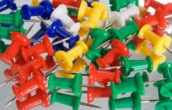Non-ferro het metaalkantoorbehoeften van de speld. Royalty-vrije Stock Fotografie