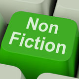 Non Fiction Key Shows Educational Material Or Text Books royalty free illustration