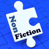 Non Fiction Puzzle Shows Educational Material Royalty Free Stock Images