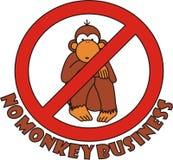 Non firmi affare di scimmia Fotografie Stock Libere da Diritti