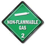 Non flammable gaz ilustracji