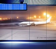 Non flying weather at airport Stock Image
