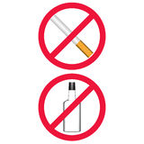 Non-fumeurs aucun boire Photos stock