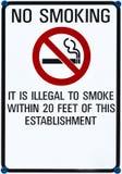 Non-fumeurs chantez Photo libre de droits