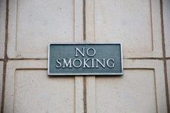 Non-fumeurs connectez-vous la brique Image stock