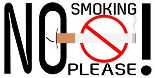 Non-fumeurs s'il vous plaît ! illustration stock