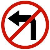 Non giri il bordo sinistro del segno Fotografie Stock Libere da Diritti