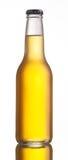 Non-glossy white beer bottle Stock Image