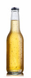 Non-glossy white beer bottle Stock Images