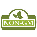 Non-GM d'étiquette images stock