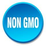 Non gmo button. Non gmo round button isolated on white background. non gmo royalty free illustration