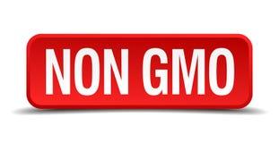 Non gmo button. Non gmo square 3d realistic isolated web button. non gmo stock illustration