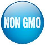 Non gmo button. Non gmo round button isolated on white background. non gmo vector illustration