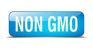 Non gmo button. Non gmo square 3d realistic isolated glass web button. non gmo vector illustration