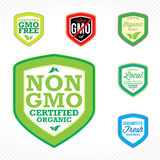 Non GMO Labels Stock Photography
