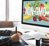 Non-GMO Nature Organic Plant Technology Concept Stock Photography