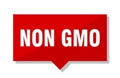 Non gmo red tag. Non gmo red square price tag stock illustration