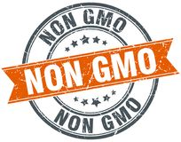 Non gmo stamp. Non gmo round grunge vintage ribbon stamp. non gmo vector illustration