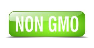 Non gmo button. Non gmo square 3d realistic isolated glass web button. non gmo royalty free illustration
