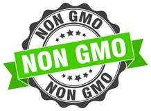 Non gmo stamp Royalty Free Stock Photography