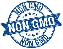 Non gmo stamp. Non gmo round grunge vintage ribbon stamp. non gmo stock illustration