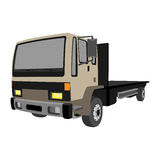 Non-gradiented Truck Royalty Free Stock Image