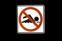 Non ha isolato segno di nuoto Immagine Stock Libera da Diritti