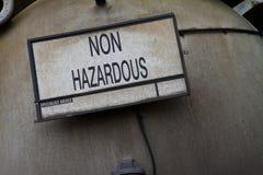 Non Hazardous. Waste warning sign royalty free stock images