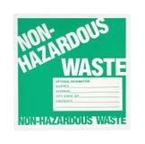 Non-hazardous Waste Label Royalty Free Stock Photos