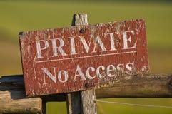 Non impedica di entrare trepassing Immagine Stock Libera da Diritti