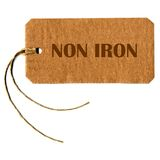 Non iron tag label Stock Images