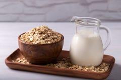 Non lait d'avoine de laiterie photos stock